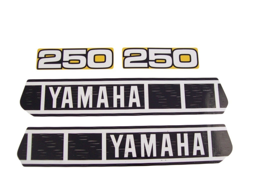 1980 Yamaha YZ 250 Tank & Side Panel Decal Kit