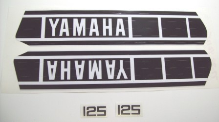 1978 Yamaha YZ 125 Tank & Side Panel Decal Kit