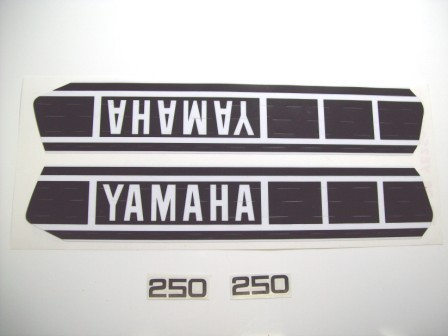 1978 Yamaha YZ 250 Tank & Side Panel Decal Kit