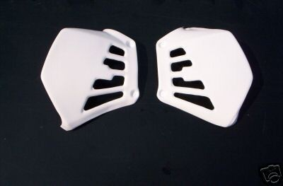 1981 Honda CR 125 Radiator Shrouds White