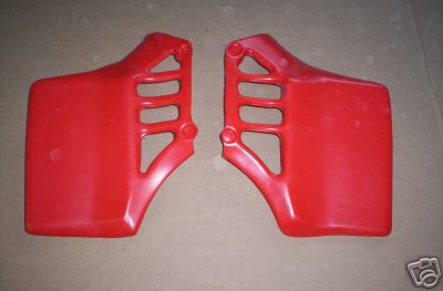 1982 Honda CR 125 Radiator Shrouds Red