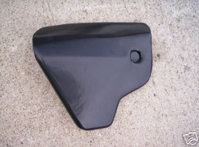 1979 1980 Husqvarna 125 250 390 OR CR WR Left Side Cover Panel Black