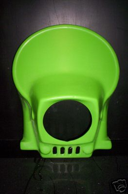 1980-1982 Kawasaki KDX 175 250 420 Headlight Holder Green