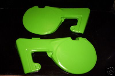 1980 Kawasaki KX 80 Side Panels Green