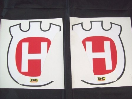 1991-1994 Husqvarna WXC WXE 350 610 Radiator Shroud Decals Graphics Red