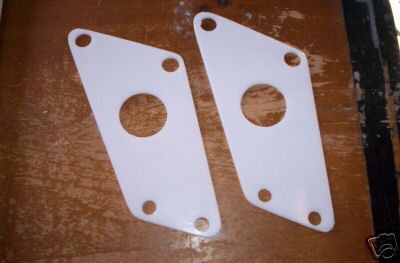 1983 Maico Chain Guide Side Plates Translucent