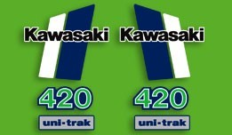 1981 Kawasaki KX 420 Decal Kit