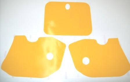 1985/1986 KTM 125 250 500 Number Plate Backgrounds Yellow