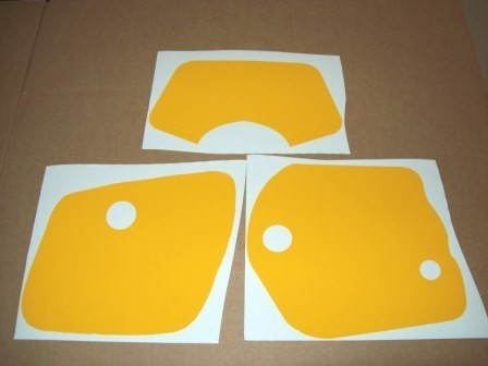 1981/1982 Yamaha IT 250 465 Number Plate Backgrounds Yellow