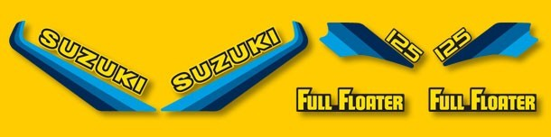 1982 Suzuki RM 125 Decal Kit