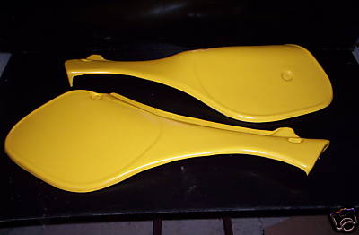 1982-1984 Suzuki PE 175 Side Panels Yellow