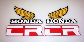 1982 Honda CR 125 250 480 Tank & Side Panel Decal Kit