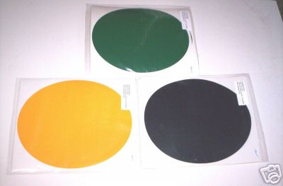 """2 Mil Oval Number Plate Backgrounds (3 per package)  8.75"""" x 10.50"""""""