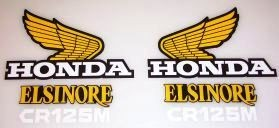 1976/1977 Honda CR 125 Tank & Side Panel Decal Kit