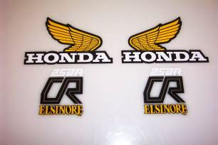 1979 Honda CR 250 Tank & Side Panel Decal Kit