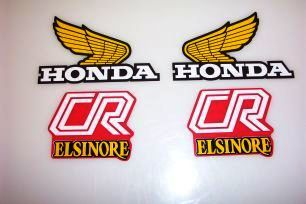 1981 Honda CR 125 250 Tank & Side Panel Decal Kit