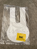 1978 KTM MC5 Front Number Plate White