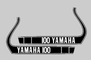 1974 Yamaha MX 100 Tank Decals