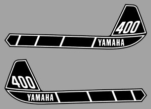1976 Yamaha IT 400 Tank Decal Kit