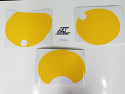 1977 1978 1979 Yamaha IT 250 Number Plate Backgrounds Yellow