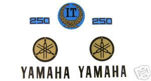 1977 Yamaha IT 250 Tank & Side Panel Decal Kit