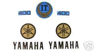 1977 Yamaha IT 400 Tank & Side Panel Decal Kit