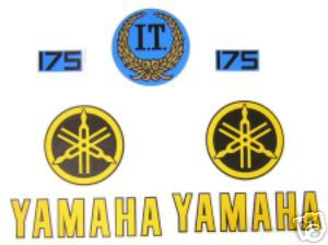 1978 Yamaha IT 175 Tank & Side Panel Decal Kit