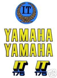 1979 Yamaha IT 175 Tank & Side Panel Decal Kit