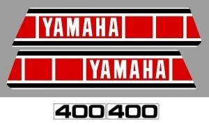 1979 Yamaha YZ 400 Euro Decal Kit