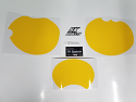 1980 Yamaha IT 250 425 Number Plate Backgrounds Yellow