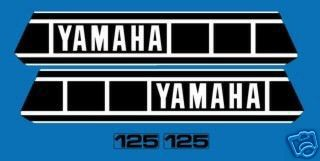 1980 Yamaha IT 125 Tank & Side Panel Decal Kit