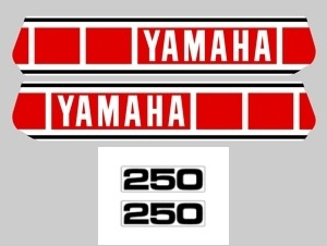 1980 Yamaha YZ 250 Euro Decal Kit