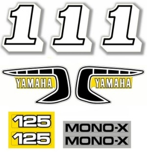 1981 Yamaha YZ 125 Decal Kit