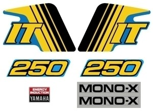 1982 Yamaha IT 250 Decal Kit