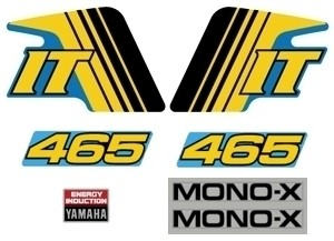 1982 Yamaha IT 465 Decal Kit