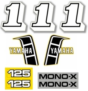 1982 Yamaha YZ 125 Decal Kit