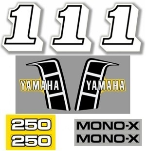 1982 Yamaha YZ 250 Decal Kit