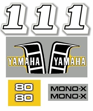 1982 Yamaha YZ 80 US Decal Kit