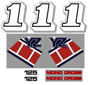 1985 Yamaha YZ 125 Decal Kit