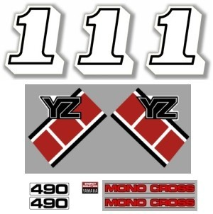 1985 Yamaha YZ 490 Decal Kit