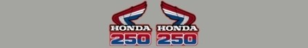 1985 Honda CR 250 Radiator Shroud Decals