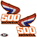 1987 Honda CR 500 Radiator Shroud Decals Die Cut
