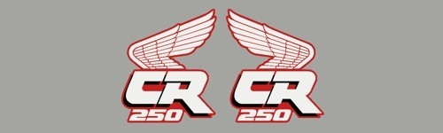 1988 Honda CR 250 Radiator Shroud Decals