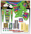 1993 Kawasaki KX 125 250 Tank & Shroud Full Team Decal Kit