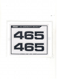 1980 1981 Yamaha YZ 465 Side Cover CC Decal Black Euro Version