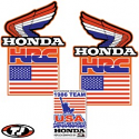 1986 Honda CR 125 250 500 MXDN Radiator Shroud Decals Die Cut