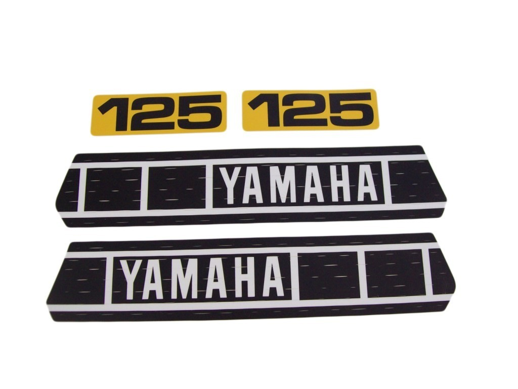 1979 Yamaha YZ 125 Tank & Side Panel Decal Kit
