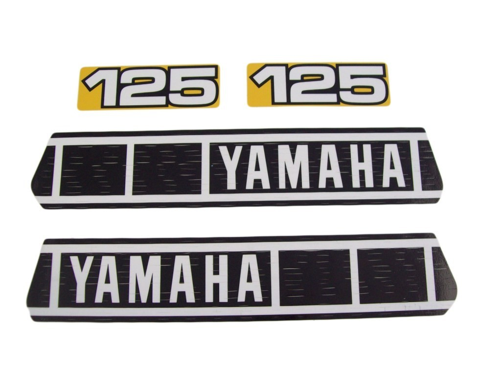 1980 Yamaha YZ 125 Tank & Side Panel Decal Kit