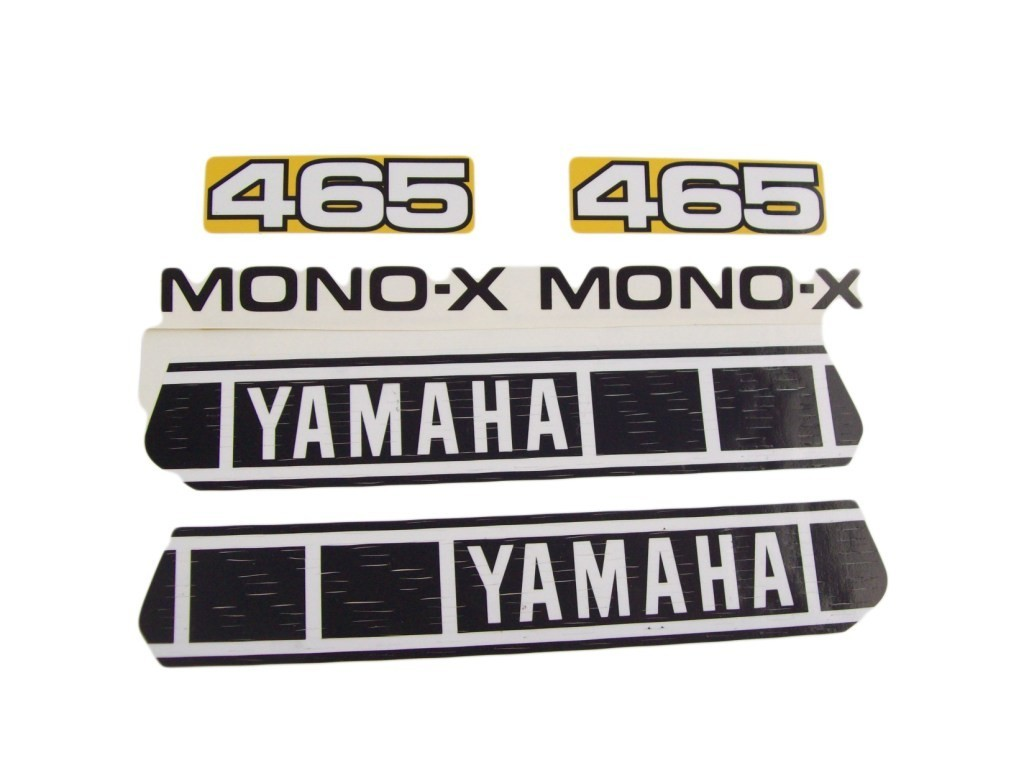 1980 Yamaha YZ 465 Tank, Side Panel & Swingarm Decal Kit