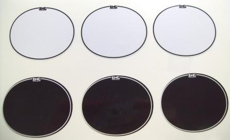 9 Mil Thick Oval Number Plate Backgrounds w/ Pinstripe (3 per package)
